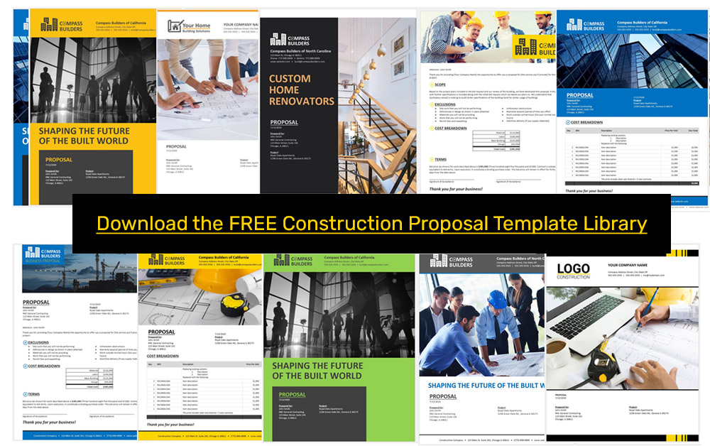 Construction Proposal Template Free Samples